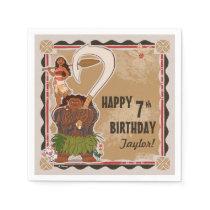 Moana | Tribal Birthday Napkin