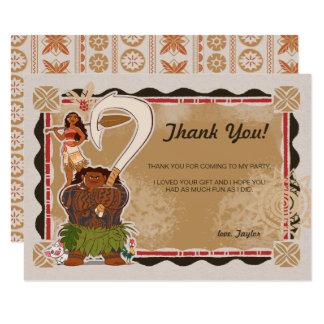 Moana | Tribal Birthday Thank You Card
