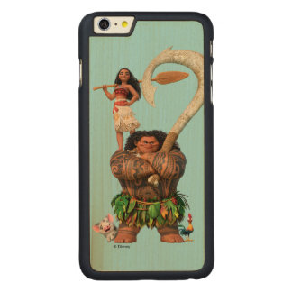 Moana | True To Your Heart Carved Maple iPhone 6 Plus Slim Case