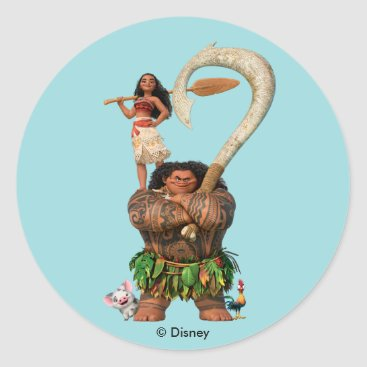 Disney Themed Moana | True To Your Heart Classic Round Sticker