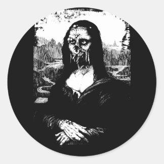 Moaning Lisa round sticker