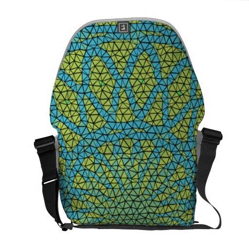 Moasic amarillo azul bolsas de mensajeria