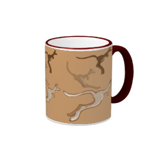 Mob of Aussie roos Ringer Mug