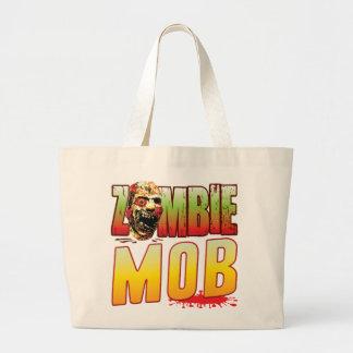 Mob Zombie Head Tote Bags