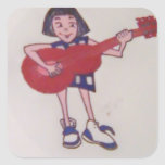 Moba playing guitar stickers