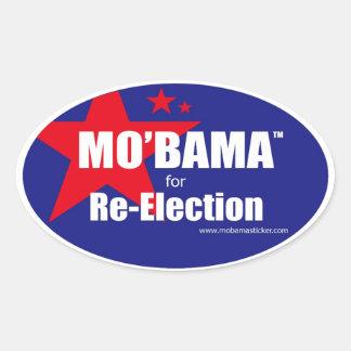 MO'BAMA para la reelección B oval Pegatina Ovaladas Personalizadas