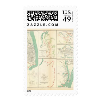 Mobile, Ala rebel defenses Stamp