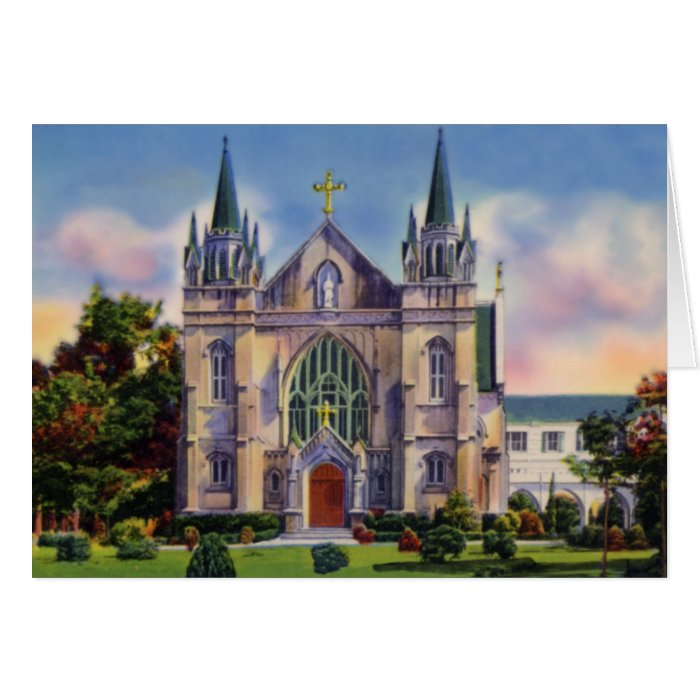Mobile Alabama Chapel Spring Hill College Card