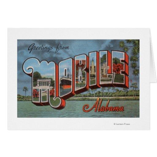Mobile, Alabama (River Scene) Greeting Card
