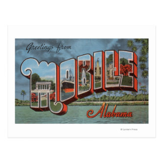 Mobile, Alabama (River Scene) Postcard