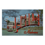 Mobile, Alabama (River Scene) Poster