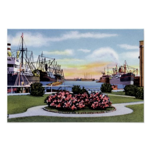 Mobile Alabama State Docks Poster
