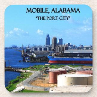 MOBILE, ALABAMA - The Port City Beverage Coaster