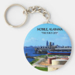 MOBILE, ALABAMA - The Port City Keychain
