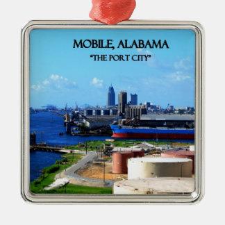 MOBILE, ALABAMA - The Port City Metal Ornament
