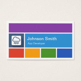 Mobile App Developer - Creative Modern Metro Style Business Card