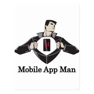 Mobile-App-Man- Postcard