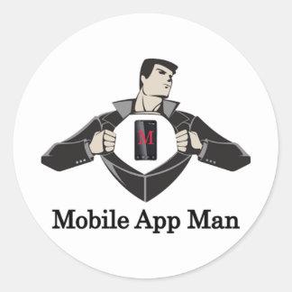 Mobile-App-Man- Stickers