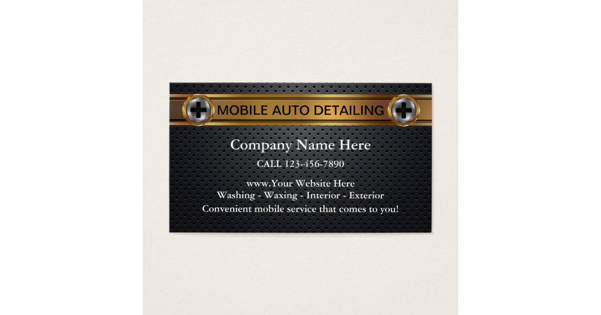Mobile Auto Detailing Business Cards   Zazzle.com