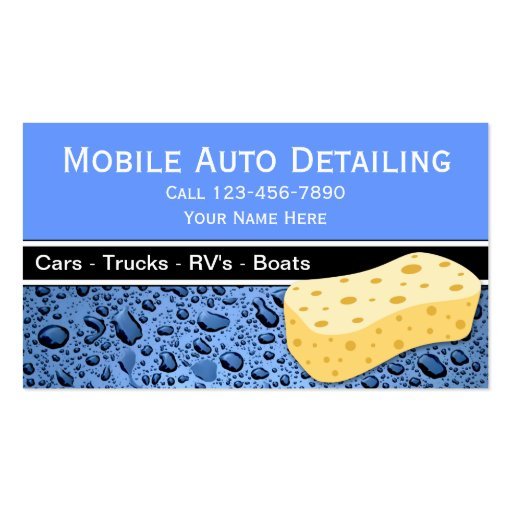 Gallery For Mobile Auto Detailing Business Cards