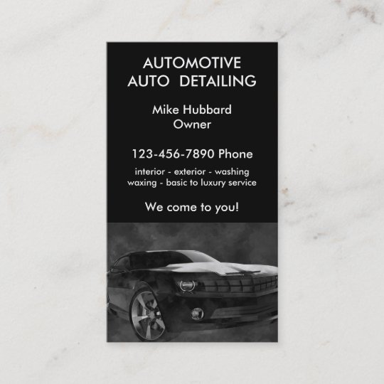 Auto Detailing Business Cards Ideas