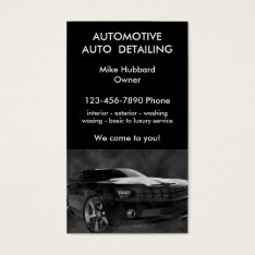 Mobile Auto Detailing Service Business Card at Zazzle