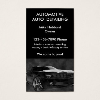 Mobile Auto Detailing Service Business Card