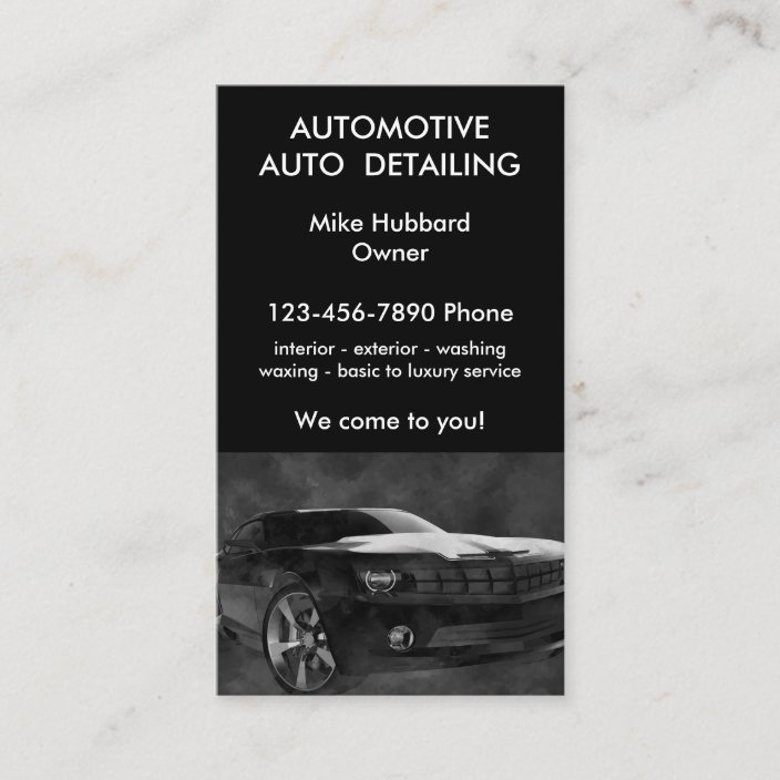 Auto Detailing Service Business Card