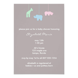 Mobile Baby Shower Invitation
