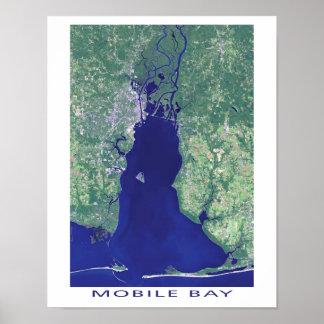 Mobile Bay Alabama Satellite Image Poster