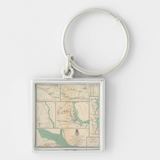 Mobile, Blakely, Messinger's Ferry-Canton Keychain