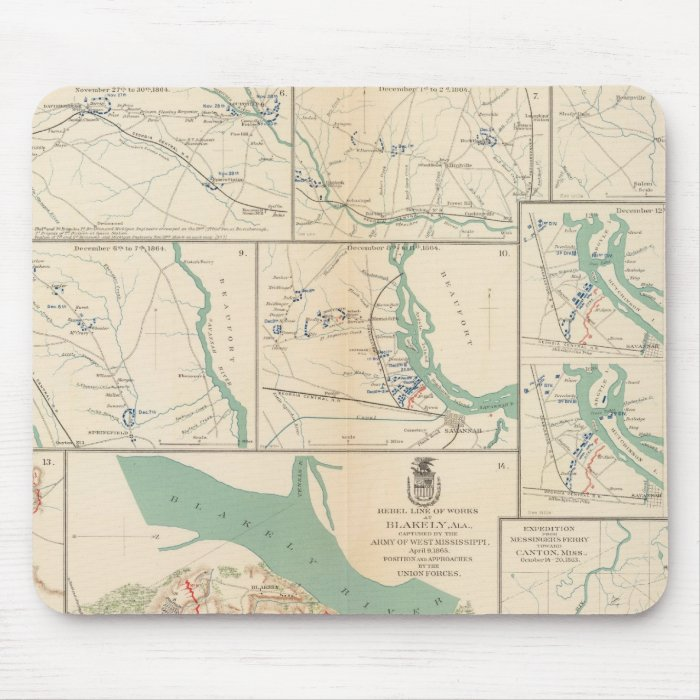 Mobile, Blakely, Messinger's Ferry-Canton Mouse Pad