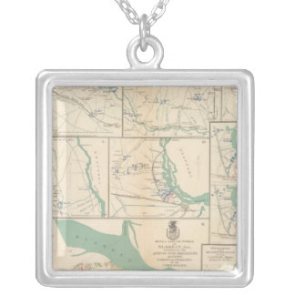 Mobile, Blakely, Messinger's Ferry-Canton Square Pendant Necklace