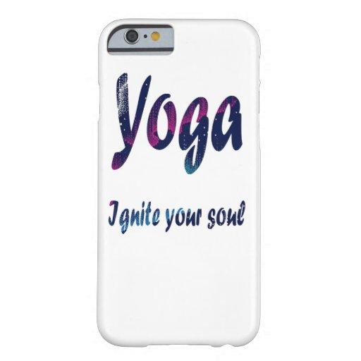 mobile case with yoga design