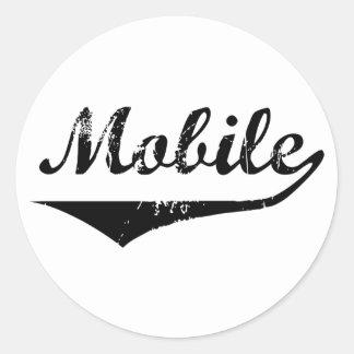 Mobile Classic Round Sticker