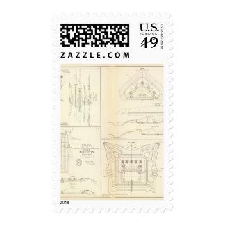 Mobile defenses Alabama Postage Stamps