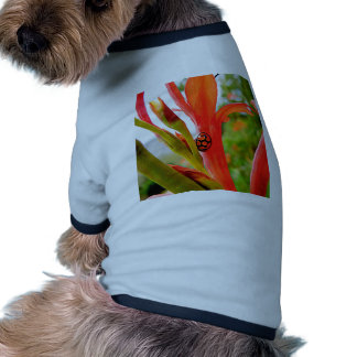 mobile devise red ladybug flower doggie tshirt