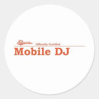 Mobile DJ Certified Classic Round Sticker