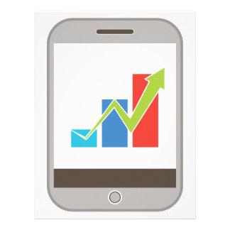 Mobile Finance Chart Icon Letterhead