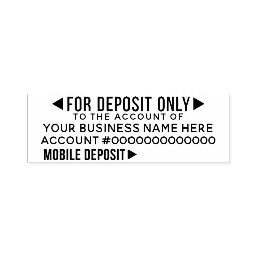 Mobile For Deposit Only Basic Office Business Bank Self-inking Stamp