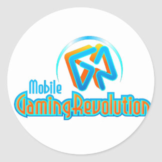 Mobile Gaming Revolution Classic Round Sticker