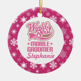 Mobile Groomer Personalized Ornament Gift