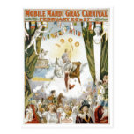 Mobile Mardi Gras1900 Poster Post Card