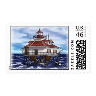 Mobile Middle Bay lighthouse Postage Stamps
