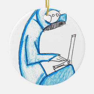 Mobile Music Producer - Blue Ceramic Ornament