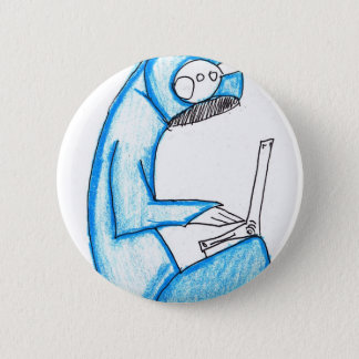 Mobile Music Producer - Blue Pinback Button