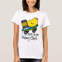 Mobile Notary Chick Riding Skateboard Rhode Island T-Shirt