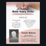 """Mobile Notary & Loan Signing Agent Pink Glitter Flyer<br><div class=""""desc"""">Mobile Notary & Loan Signing Agent Pink Glitter Flyers.</div>"""