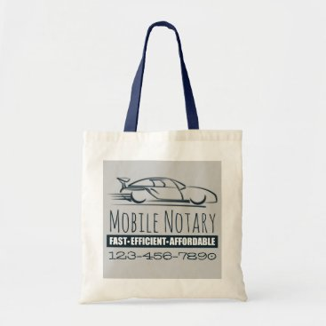 Professional Business Mobile Notary Public Fast Car with Phone Number Tote Bag