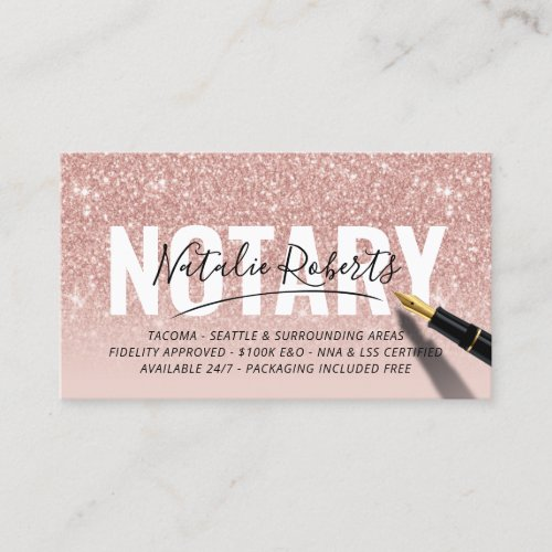 Business Cards Notary Public